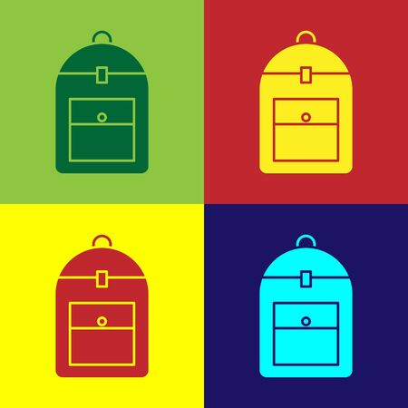 Color Backpack icon isolated on color background. Vector Illustration 일러스트