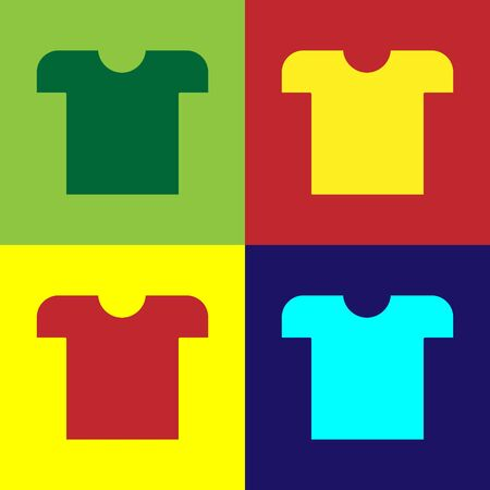 Color T-shirt icon isolated on color background. Vector Illustration Illustration