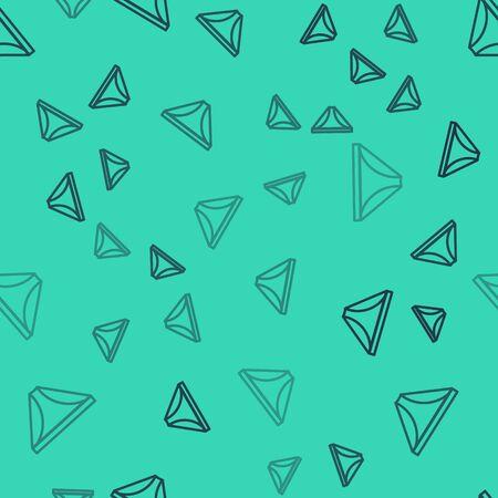 Black line Men underpants icon isolated seamless pattern on green background. Man underwear. Vector Illustration Archivio Fotografico - 138149061