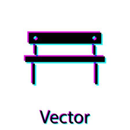 Black Bench icon isolated on white background.  Vector Illustration Illusztráció