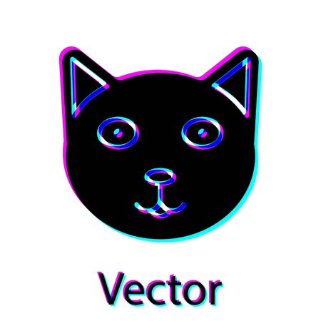 Black Pet icon isolated on white background. Vector Illustration Archivio Fotografico - 138188689