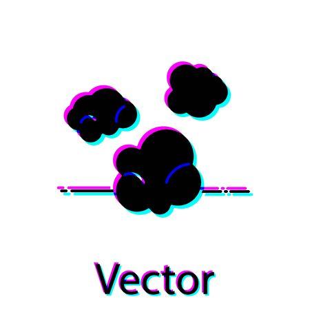 Black Dust icon isolated on white background. Vector Illustration