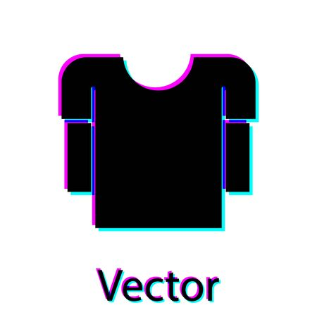 Black Long sleeve shirt icon isolated on white background. Vector Illustration