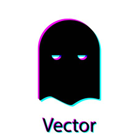 Black Executioner mask icon isolated on white background. Hangman, torturer, executor, tormentor, butcher, headsman icon. Vector Illustration Иллюстрация