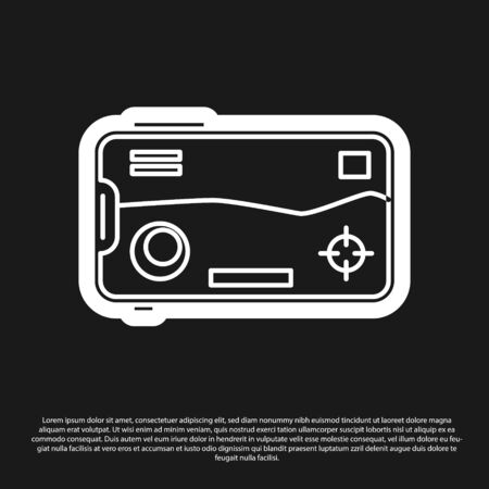 Black Smartphone and playing in game icon isolated on black background. Mobile gaming concept. Vector Illustration Archivio Fotografico - 138200480