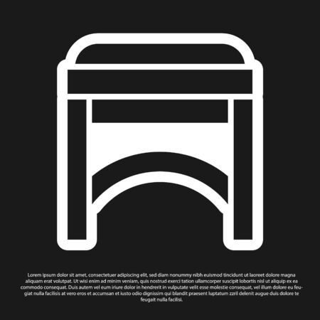 Black Chair icon isolated on black background. Vector Illustration 일러스트