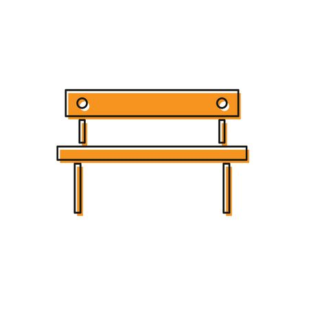 Orange Bench icon isolated on white background.  Vector Illustration Foto de archivo - 138225818