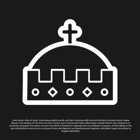 Black King crown icon isolated on black background. Vector Illustration 版權商用圖片 - 138226106