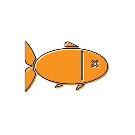 Orange Fish icon isolated on white background. Vector Illustration 向量圖像