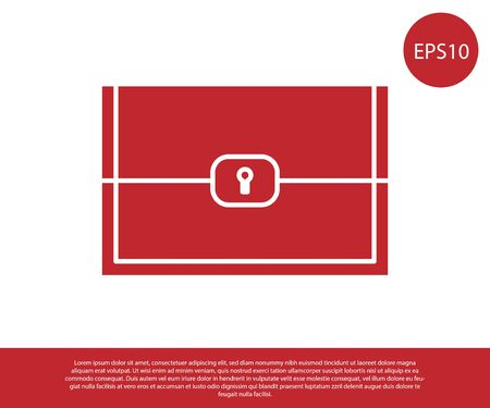Red Chest for game icon isolated on white background. Vector Illustration Illustration