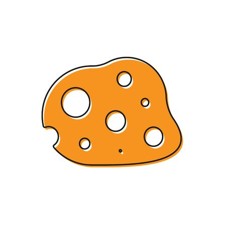 Orange Asteroid icon isolated on white background. Vector Illustration Banco de Imagens - 138228509