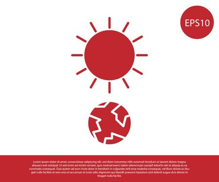 Red Solstice icon isolated on white background. Vector Illustration