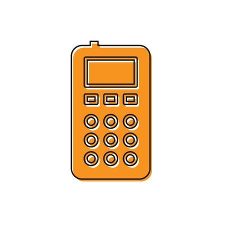 Orange Remote control icon isolated on white background. Vector Illustration