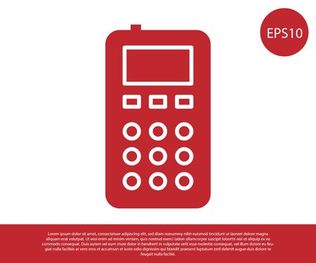 Red Remote control icon isolated on white background. Vector Illustration