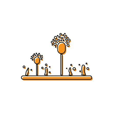 Orange Mold icon isolated on white background. Vector Illustration Illustration