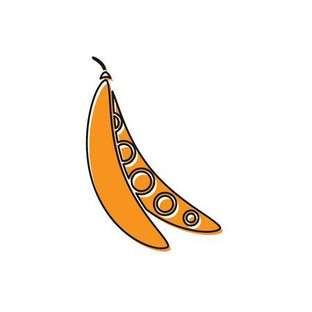 Orange Kidney beans icon isolated on white background. Vector Illustration