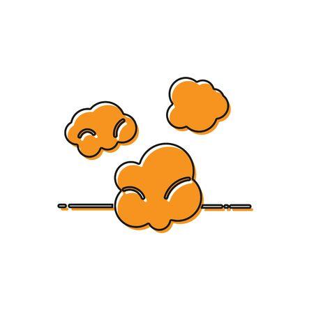 Orange Dust icon isolated on white background. Vector Illustration