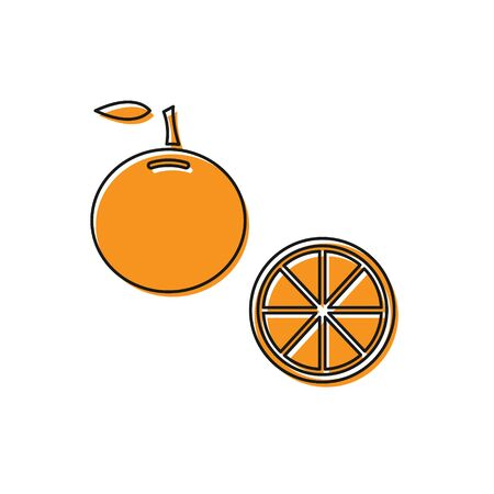 Orange Orange fruit icon isolated on white background. Vector Illustration