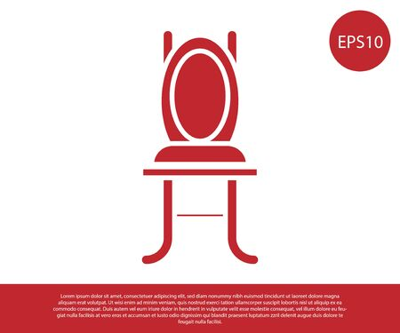 Red Chair icon isolated on white background. Vector Illustration Foto de archivo - 138229846