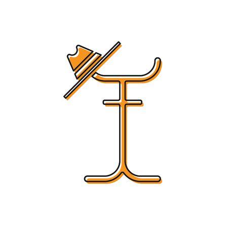 Orange Coat stand icon isolated on white background. Vector Illustration Ilustracja