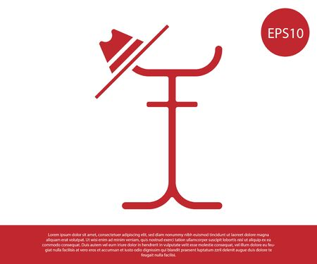 Red Coat stand icon isolated on white background. Vector Illustration
