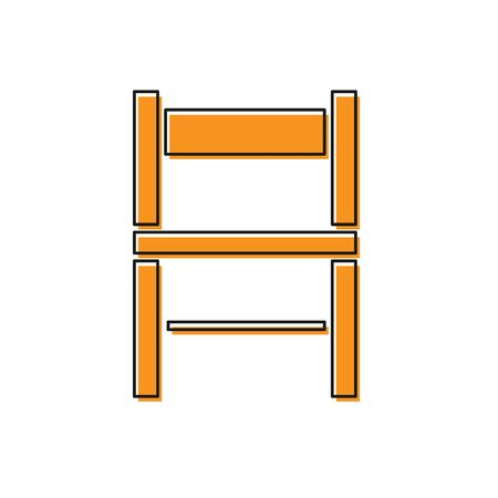 Orange Chair icon isolated on white background. Vector Illustration Foto de archivo - 138234156