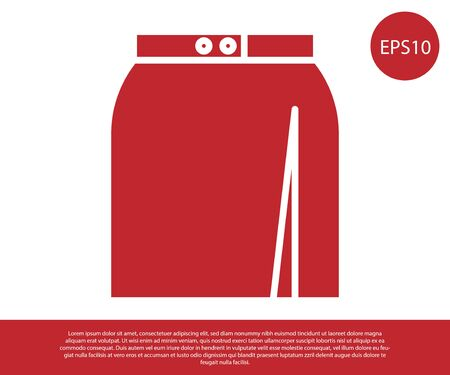 Red Skirt icon isolated on white background. Vector Illustration