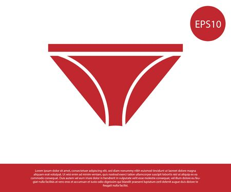 Red Men underpants icon isolated on white background. Man underwear. Vector Illustration