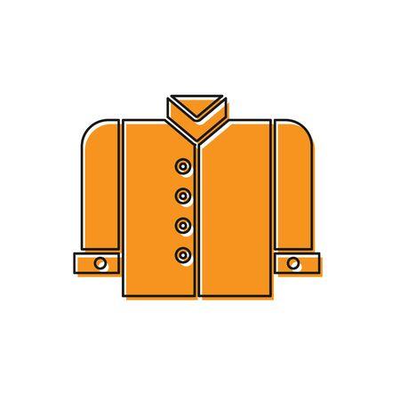Orange T-shirt icon isolated on white background. Vector Illustration Illustration