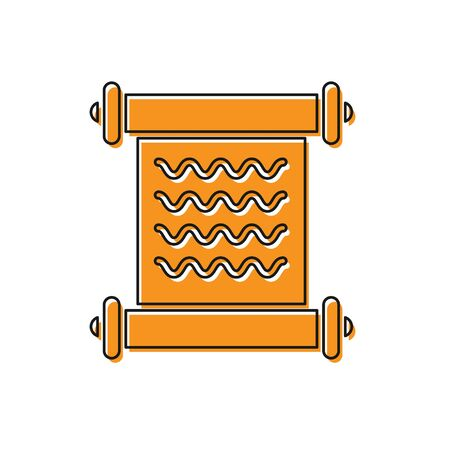 Orange Decree, paper, parchment, scroll icon icon isolated on white background. Vector Illustration