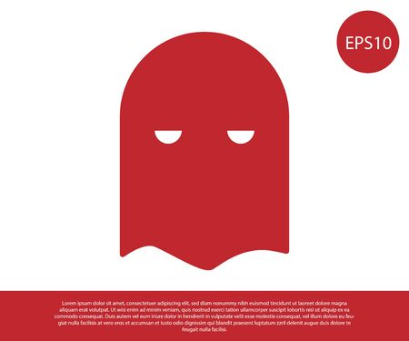 Red Executioner mask icon isolated on white background. Hangman, torturer, executor, tormentor, butcher, headsman icon. Vector Illustration