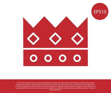 Red King crown icon isolated on white background. Vector Illustration 版權商用圖片 - 138237947