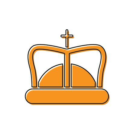 Orange King crown icon isolated on white background. Vector Illustration 版權商用圖片 - 138237956