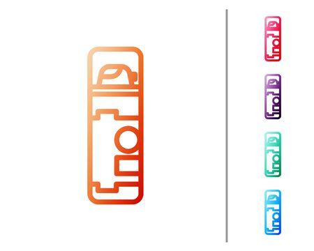 Red line Shaving gel foam icon isolated on white background. Shaving cream. Set color icons. Vector Illustration Stock fotó - 138238160