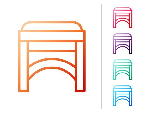 Red line Chair icon isolated on white background. Set color icons. Vector Illustration Foto de archivo - 138238707