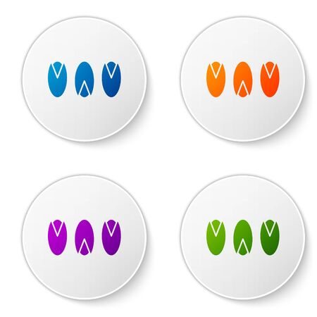 Color Pistachio nuts icon isolated on white background. Set icons in circle buttons. Vector Illustration