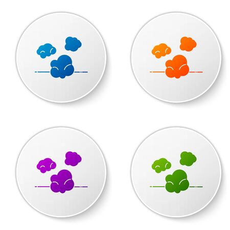 Color Dust icon isolated on white background. Set icons in circle buttons. Vector Illustration