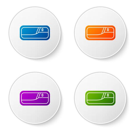 Color Car door handle icon isolated on white background. Set icons in circle buttons. Vector Illustration Standard-Bild - 138277035