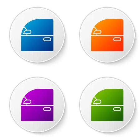 Color Car door icon isolated on white background. Set icons in circle buttons. Vector Illustration Archivio Fotografico - 138277041