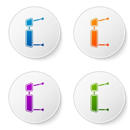 Color Truck side mirror icon isolated on white background. Set icons in circle buttons. Vector Illustration Ilustração
