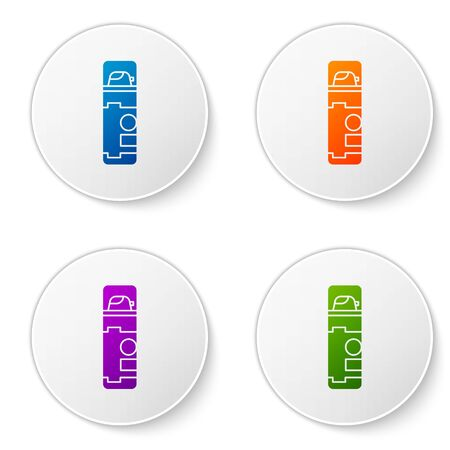 Color Shaving gel foam icon isolated on white background. Shaving cream. Set icons in circle buttons. Vector Illustration