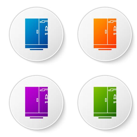 Color Shower cabin icon isolated on white background. Set icons in circle buttons. Vector Illustration Ilustrace