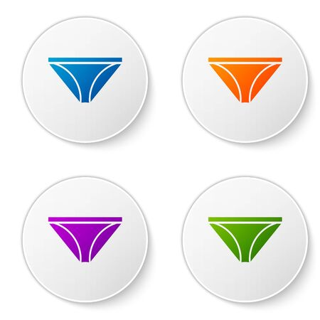 Color Men underpants icon isolated on white background. Man underwear. Set icons in circle buttons. Vector Illustration Archivio Fotografico - 138277617