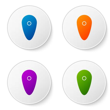 Color Shield icon isolated on white background. Guard sign. Security, safety, protection, privacy concept. Set icons in circle buttons. Vector Illustration Illustration