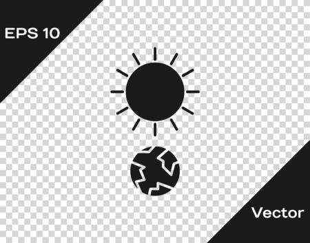 Grey Solstice icon isolated on transparent background. Vector Illustration Illustration