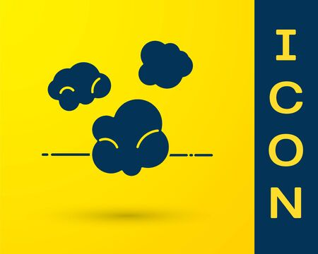 Blue Dust icon isolated on yellow background. Vector Illustration Ilustrace