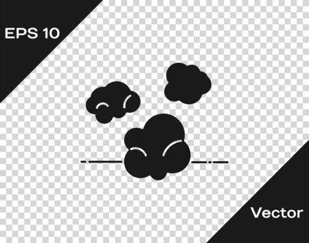 Grey Dust icon isolated on transparent background. Vector Illustration