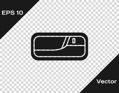 Grey Car door handle icon isolated on transparent background. Vector Illustration Standard-Bild - 138327704