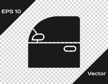 Grey Car door icon isolated on transparent background. Vector Illustration Vettoriali