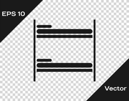 Grey Bunk bed icon isolated on transparent background. Vector Illustration Illustration